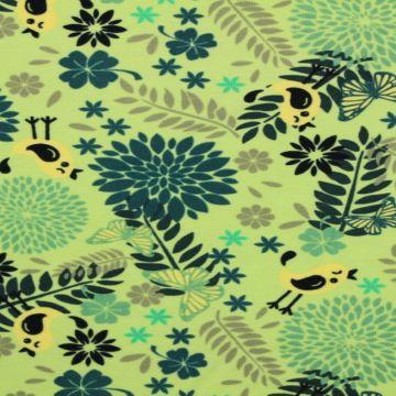 Megan Blue: Birds and Butterflies on Soft Lime