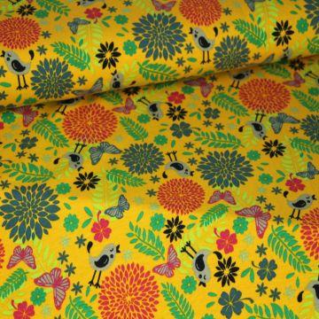 Megan Blue: Birds and Butterflies on Ocher