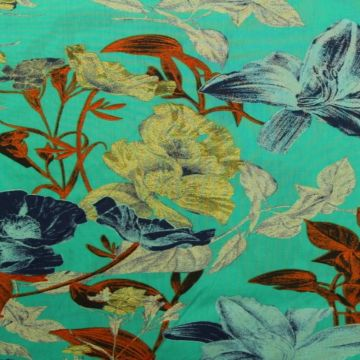 Spring Flowers on Turquoise
