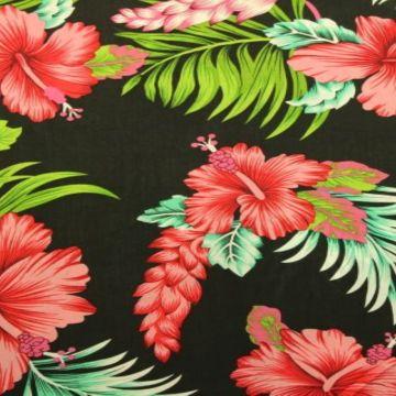 Tropical Flowers on Black