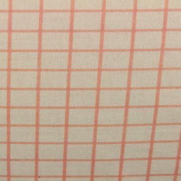 Salmon squares on off white