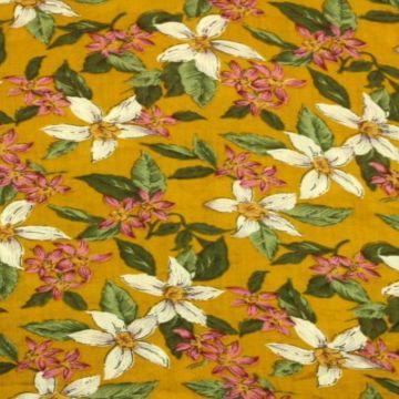 Cotton Viscose - Wildflower on Ocher