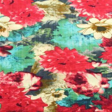 Cotton Viscose - Mexican Flower Field