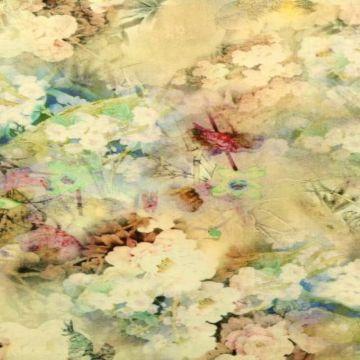 Leinen Deluxe - Cloudy Flowers