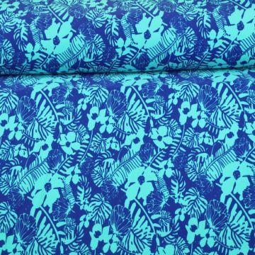 Lycra - Blue Flowers