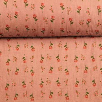 Musselin - Roses Vintage Pink