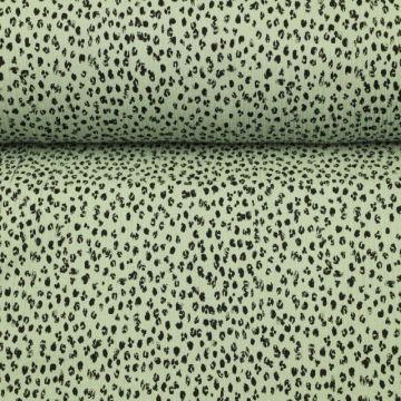 Musselin - Spots Vintage Green