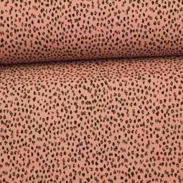 Musselin - Spots Vintage Pink