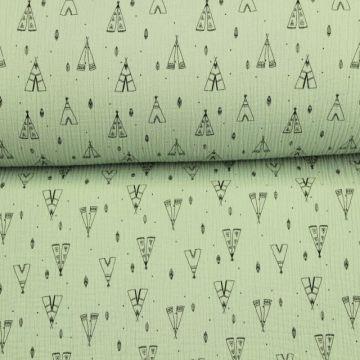 Musselin - Wigwam Vintage Green