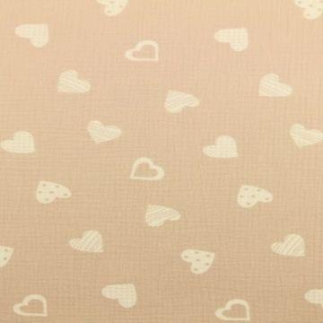 Musselin - Lovely Hearts Old Pink