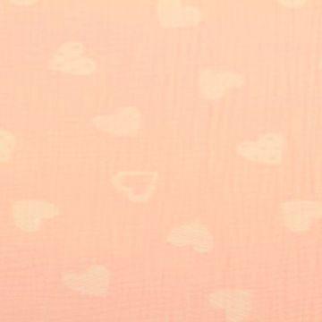 Musselin - Lovely Hearts Light pink