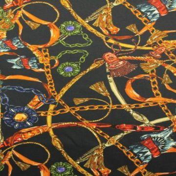 Stretch Baumwolle - Chains
