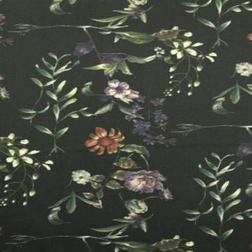 Stretch Baumwolle - Night Shade Flowers