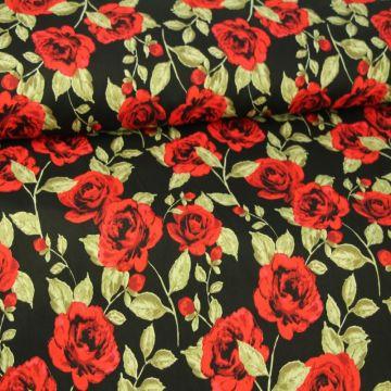 Red Roses on Black