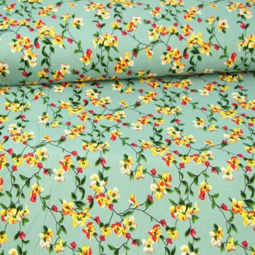 Little Mexican Floral on Vintage Green