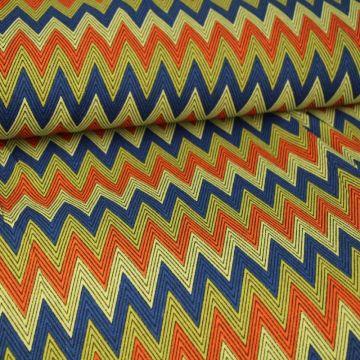 Zigzag Coral/Blue/Beige