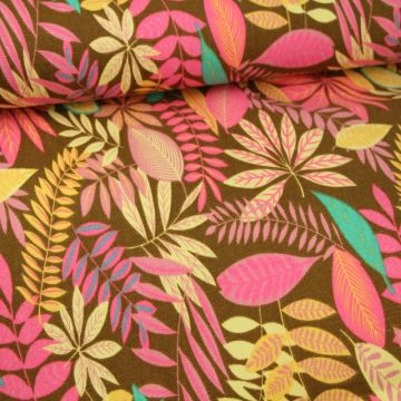 Happy Floral on Brown