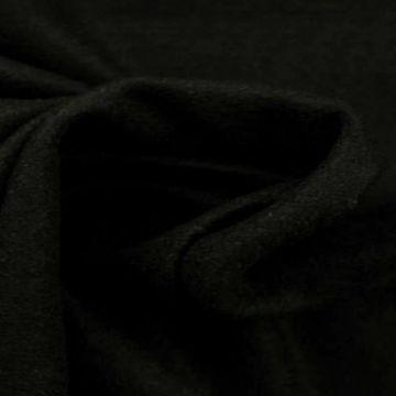 Brushed wol zwart black