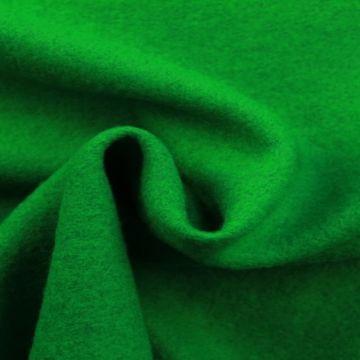 brushed wool fel groen