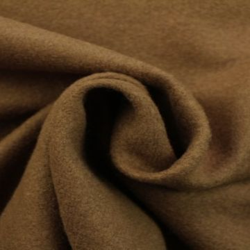 brushed wool donker taupe