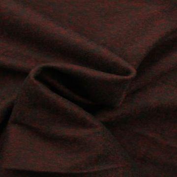 Brushed wool bordeaux melange