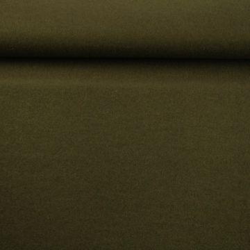brushed wool legergroen bruin