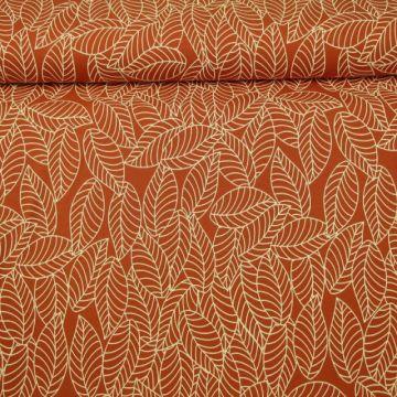 Katoenen Tricot - Autumn Leaves Rusty