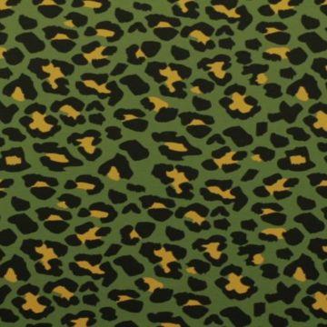 Katoenen Tricot - Winter Animal Green