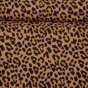 Katoenen Tricot - Winter Animal Old Pink