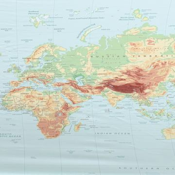 Stretch Baumwolle - Worldmap PANEL