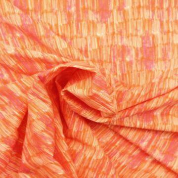 Lycra - Tiny Stripes Orange/Pink