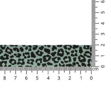 Oaki Doki Jersey Schrägband - Leopard - Old Green