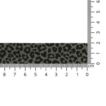 Oaki Doki Jersey Schrägband - Leopard - Army Green