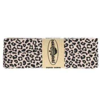 Oaki Doki Jersey Schrägband - Leopard - Old Pink