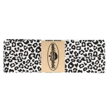 Oaki Doki Jersey Schrägband - Leopard - White