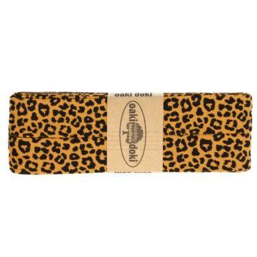 Oaki Doki Jersey Schrägband - Leopard - Ocher