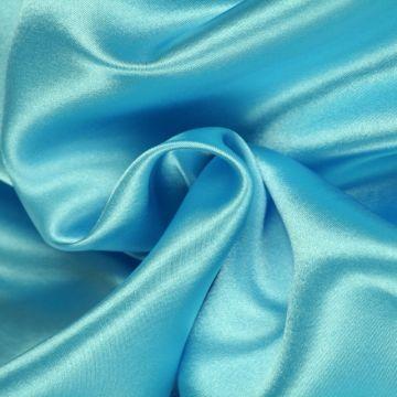 Aqua Blauwe Satijn