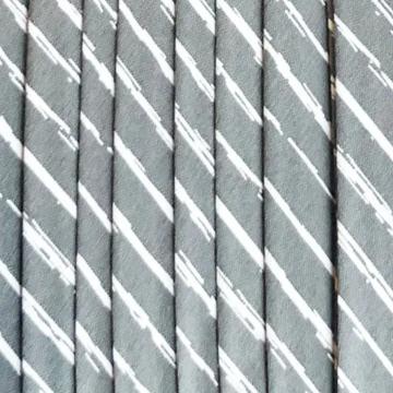 Oaki Doki Baumwolle Schrägband - Stripes Grey - 2m