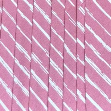 Oaki Doki Baumwolle Schrägband - Stripes Blush Pink - 2m