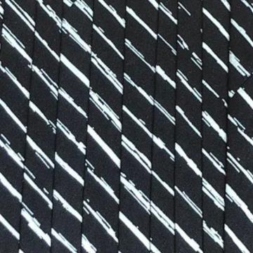 Oaki Doki Katoen Biaisband - Stripes Black - 2m