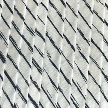 Oaki Doki Baumwolle Schrägband - Stripes White - 2m