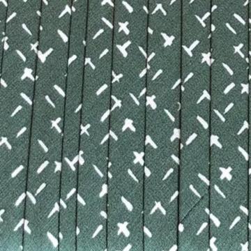Oaki Doki Baumwolle Schrägband - Cross Green - 2m