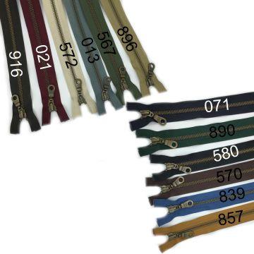 YKK Teilbare Kupfer Reißverschlüsse - 50 cm